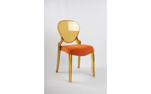 Chaise Queen ambre