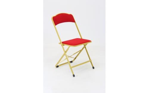Chaise Pliante  Dorée & Rouge