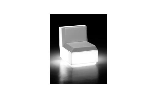 Fauteuil cenrale Big Cut blanc + lumière