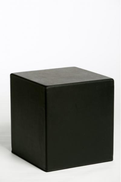 Poef Square zwart
