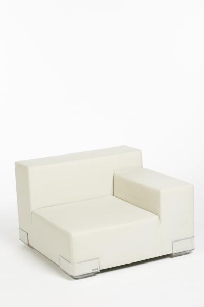 Canapé Plastics droite ice blanche