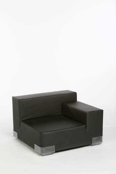 Canapé Plastics droite noire