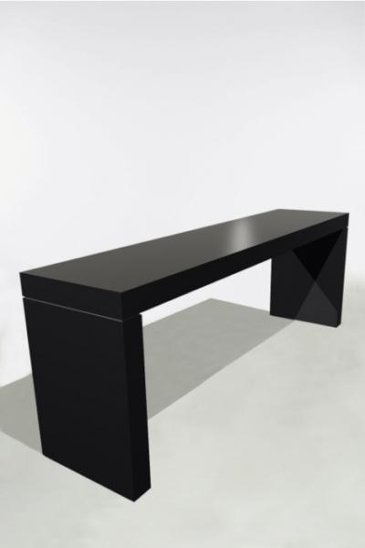 U-Tafel 300x70x110 Zwart