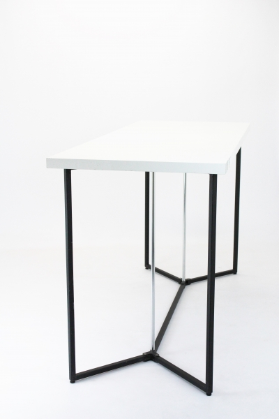 Table haute Jolly blanche 200 x 80