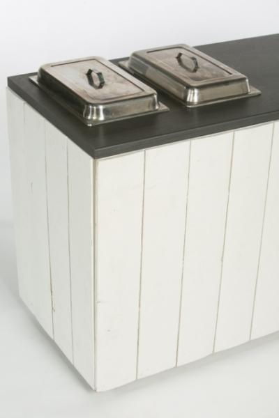 Cottage: Table de buffet avec Creux pour 2 Chafing