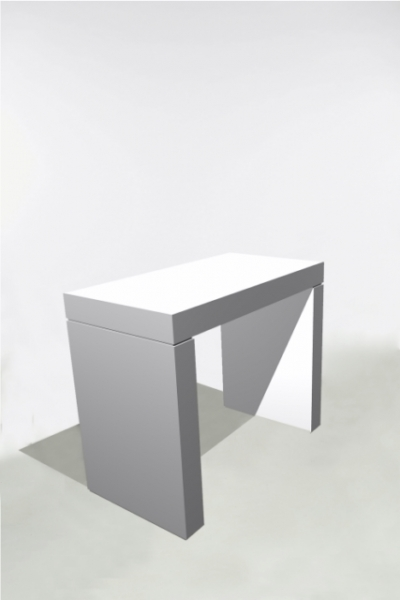 U-Table Haute 130x70x110 Blanche