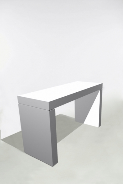 U-Table Haute 180x70x110 Blanche