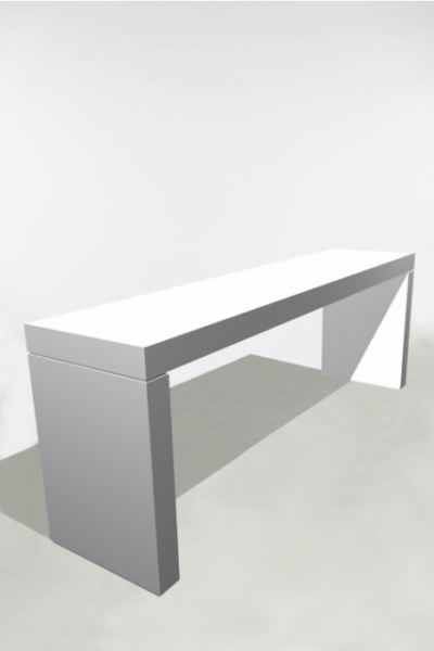 U-Table Haute 300x70x110 Blanche