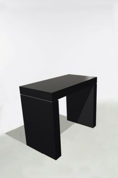U-Tafel 130x70x110 Zwart