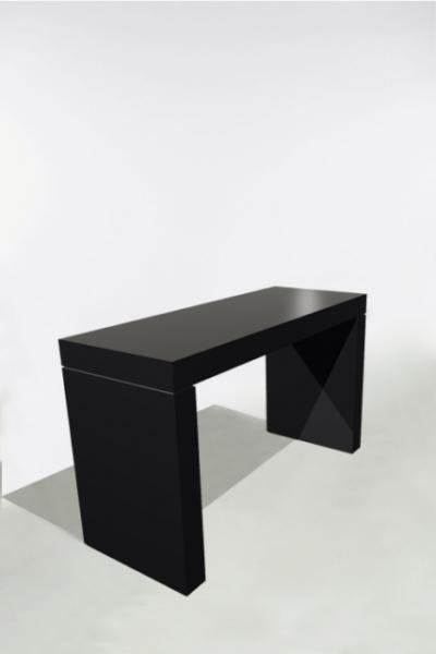 U-Tafel 180x70x110 Zwart