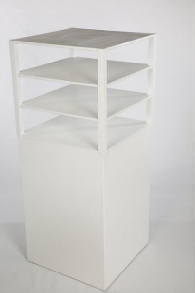 LW: Buffet Etagère Big blanc 80 x 80 incl Colonne