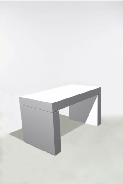 U-Table 130x70x75 Blanche