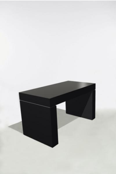 U-Tafel 130x70x75 Zwart