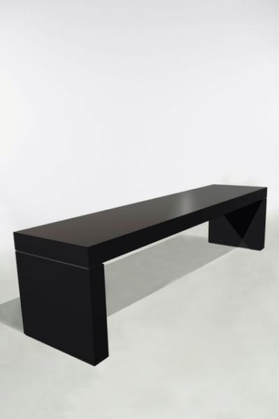 U-Tafel 300x70x75 Zwart